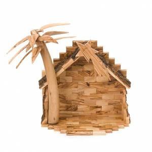 Olive wood Bethleem crib 15cm s7