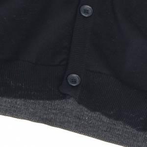 Open sleeveless cardigan, 100% black cotton s4