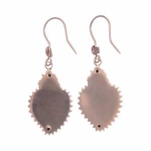 Orecchini in argento 925 cuore votivo rosato s2