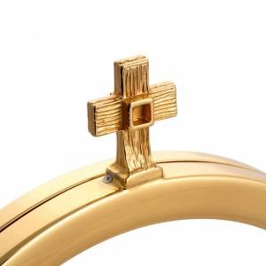 Ostensorio dorado decoración plateado cruz s4