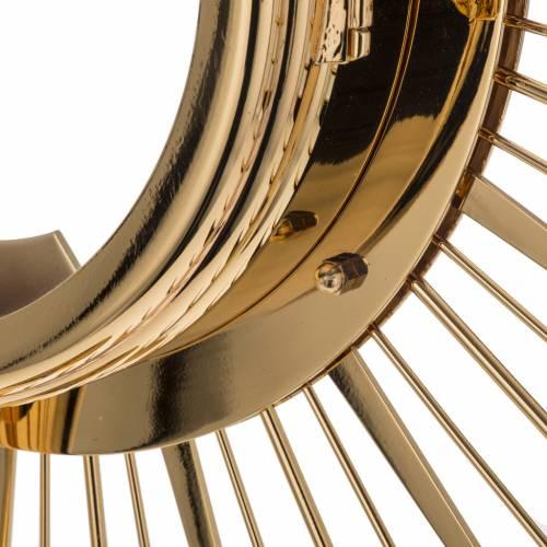 Ostensorio ottone espositore in vetro raggiera s12