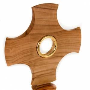 Ostensorio in olivo a croce s2