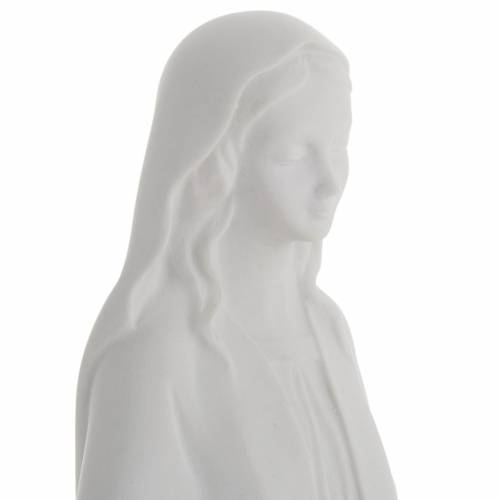 Our Lady Immaculate statue in reconstituted marble 40 cm s3