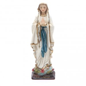 Holy Statues in resin & PVC: Our Lady of Lourdes resin statue 12 cm
