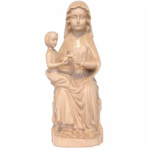 Natural wood statues and figures: Our Lady of Mariazell in patinated Valgardena wood