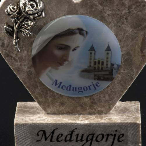 Our Lady of Medjugorje marble heart s3