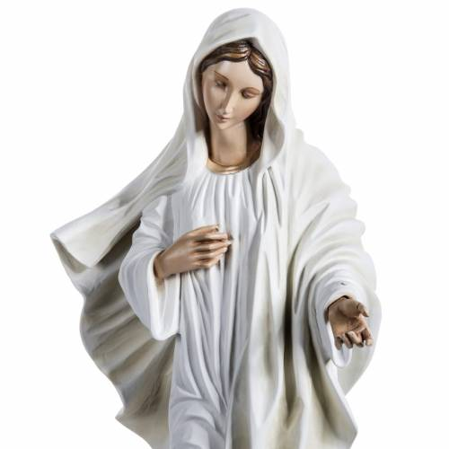 Our Lady of Medjugorje statue in painted fiberglass, 130cm s3