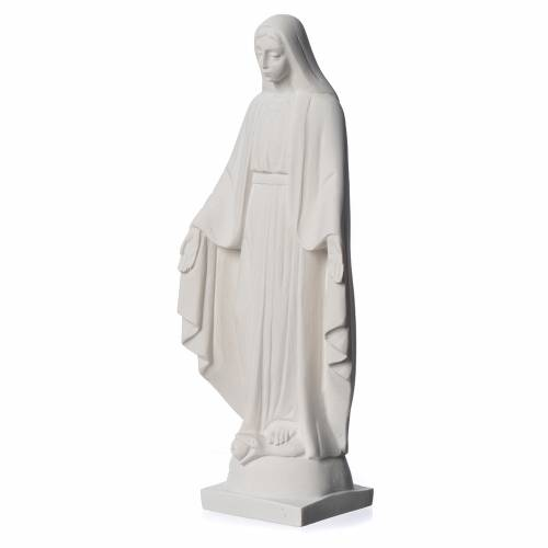 Our lady of Miracles statue made of reconstituted Carrara s3
