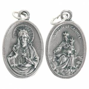 Our Lady of Mount Carmel medal, oxidised metal 20mm s1