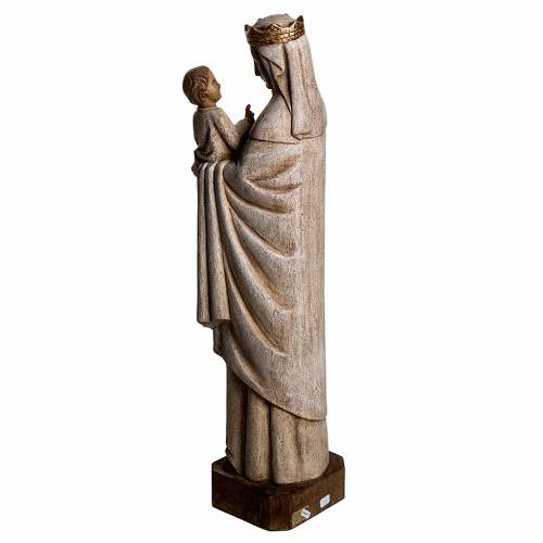 Our Lady of Pontoise (du regard) statue in painted wood 62,5cm s4