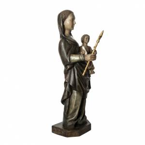 Our Lady of Voirons statue in painted wood 100 cm, Bethleem s2