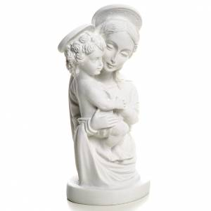 Our Lady with Child bust in reconstituted marble, 22 cm s3