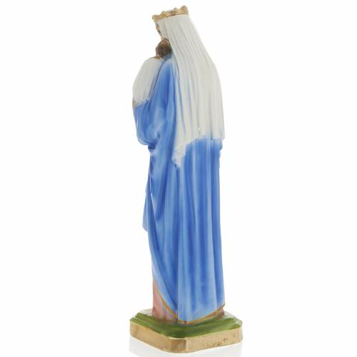 Our Lady with Infant Jesus plaster statue, 40 cm s4