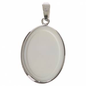 Oval medal in silver, 27mm Guardian Angel s2