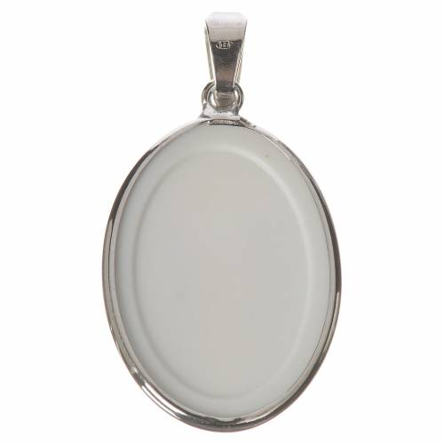 Oval medal in silver, 27mm Merciful Jesus s2
