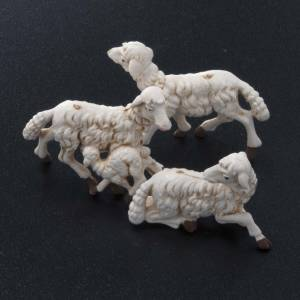 Animales para el pesebre: Ovejas belén plástico 10 pz. 10 cm.