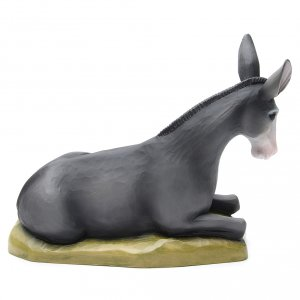 Ox and donkey, statues in painted fiberglass, 80cm s4