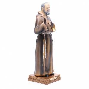 Padre Pío de Pietrelcina 32,5 cm resina pintada s4