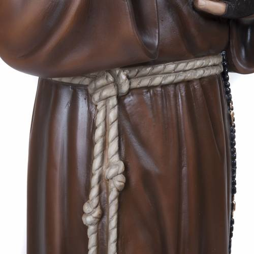 Padre Pio of Petralcina statue, 110 cm in painted marble dust s6