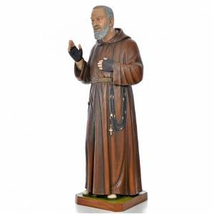 Fiberglass statues: Padre Pio of Pietralcina statue in painted fiberglass 175cm
