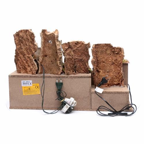 Paesaggio roccioso con mulino funzionante e luci 40x60x40 cm s4