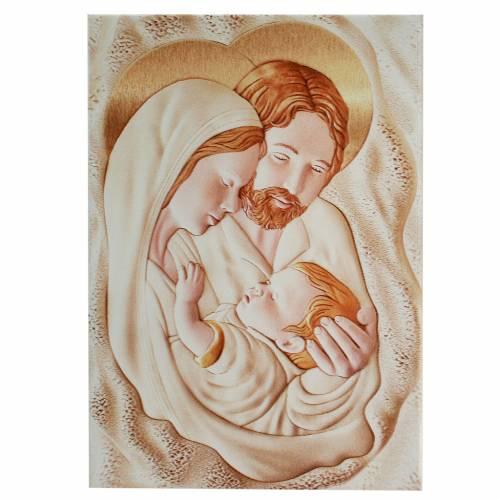 Painting Holy Family rectangular shaped 10,5x15cm s1