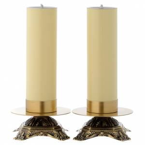 Pair of brass candle holders s1
