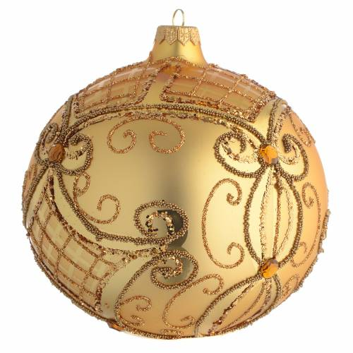 Palla addobbo Natale oro base opaca 150 mm s2