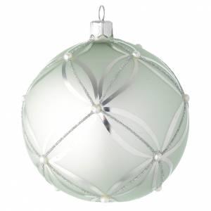 Palline di Natale: Palla vetro verde metallizzato 100 mm