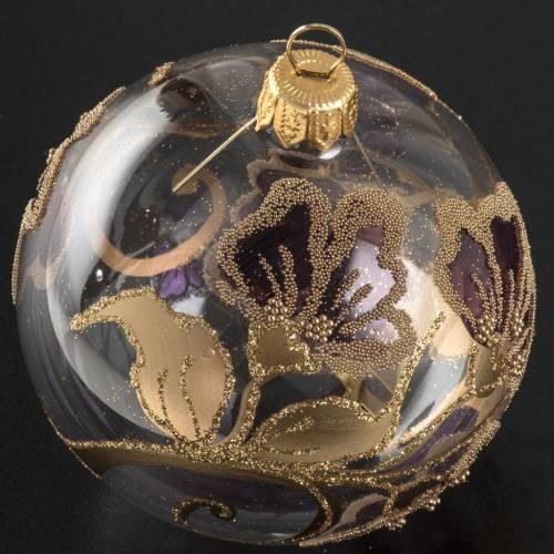 Pallina albero Natale vetro soffiato fucsia 8cm s2