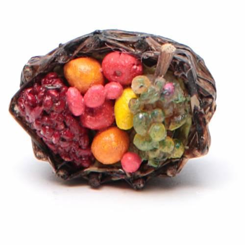 Panier de fruits crèche napolitaine 4x2,5 cm s2