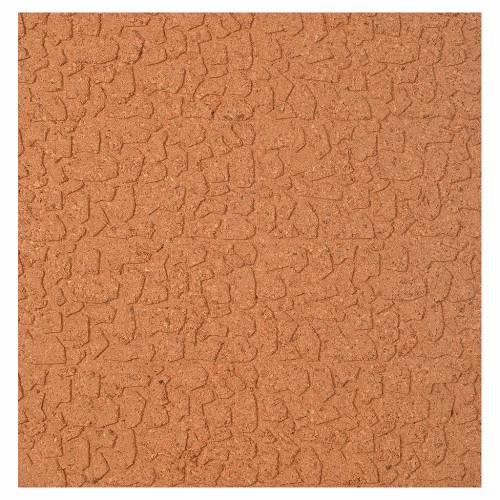 Panneau liège imitation mur pierres cm 100x50x1 s1