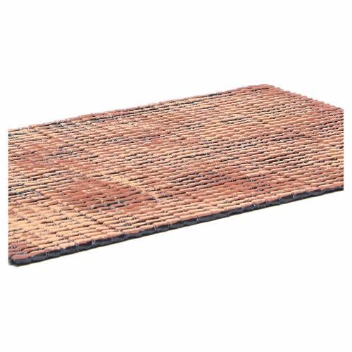 Panneau toit crèche rouge nuancé tuiles petit format 50x35 cm s2