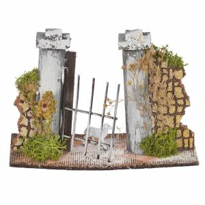 Paroi en liège avec portail 11x16x5 cm s1