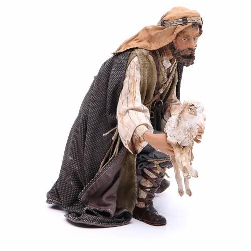 Pastor con cabra Belén 30 cm Angela Tripi s4