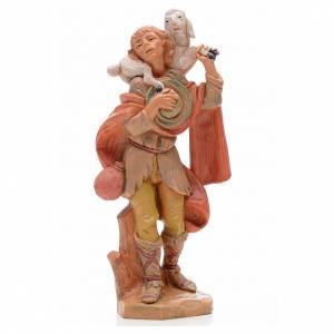 Figuras del Belén: Pastor con cordero 17 cm Fontanini