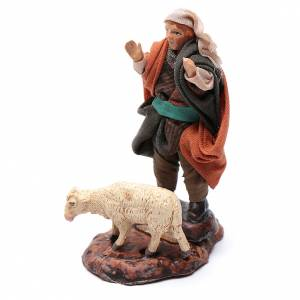 Pastor con oveja cm 8 pesebre napolitano s2