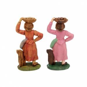Figuras del Belén: Pastora con bandeja en la cabeza 8 cm.