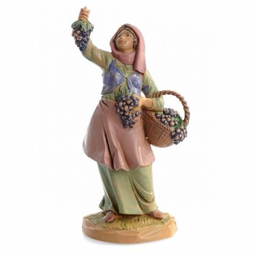 Pastora con uvas 12 cm Fontanini s1