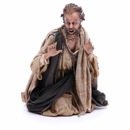 Pastore adorante 30 cm Presepe Angela Tripi s1