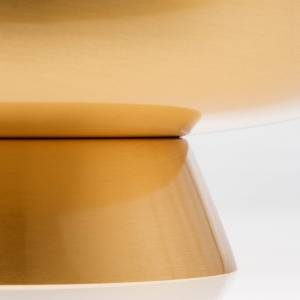 Cálices, Copones y Patenas metal: Patena de latón satinado diámetro 16cm