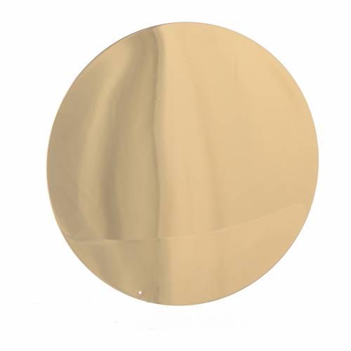 Patène lisse laiton diam 10 cm s2