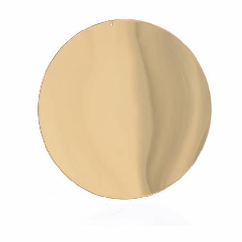 Patène lisse laiton diam 10 cm s1
