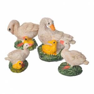 Animales para el pesebre: Patos resina 4 piezas 10 cm