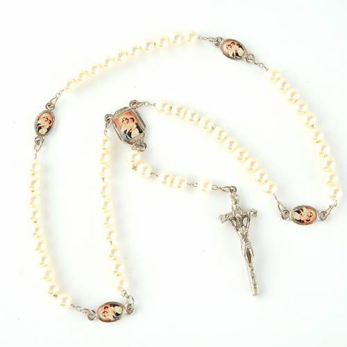 Pearled rosary with images (14 diam) s4