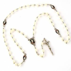 Pearled rosary with images (20 diam) s2