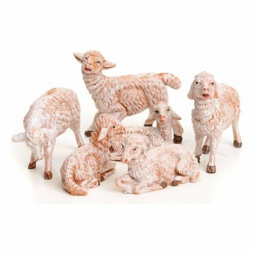 Pecore 6 pz per presepe 9,5 cm Fontanini s1