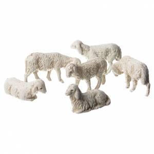Pecore 6 soggetti presepe Moranduzzo 3,5 cm s1