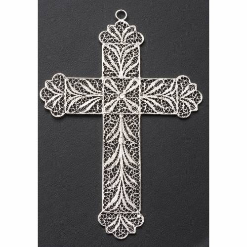 Pectoral Cross made of silver filigree 6
