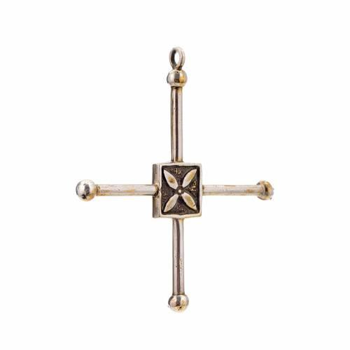 Pendant cross Saint Geminianus in sterling silver 7,2x6,6cm s2